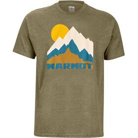 Marmot Tower Maglietta a maniche corte Uomo, olive heather